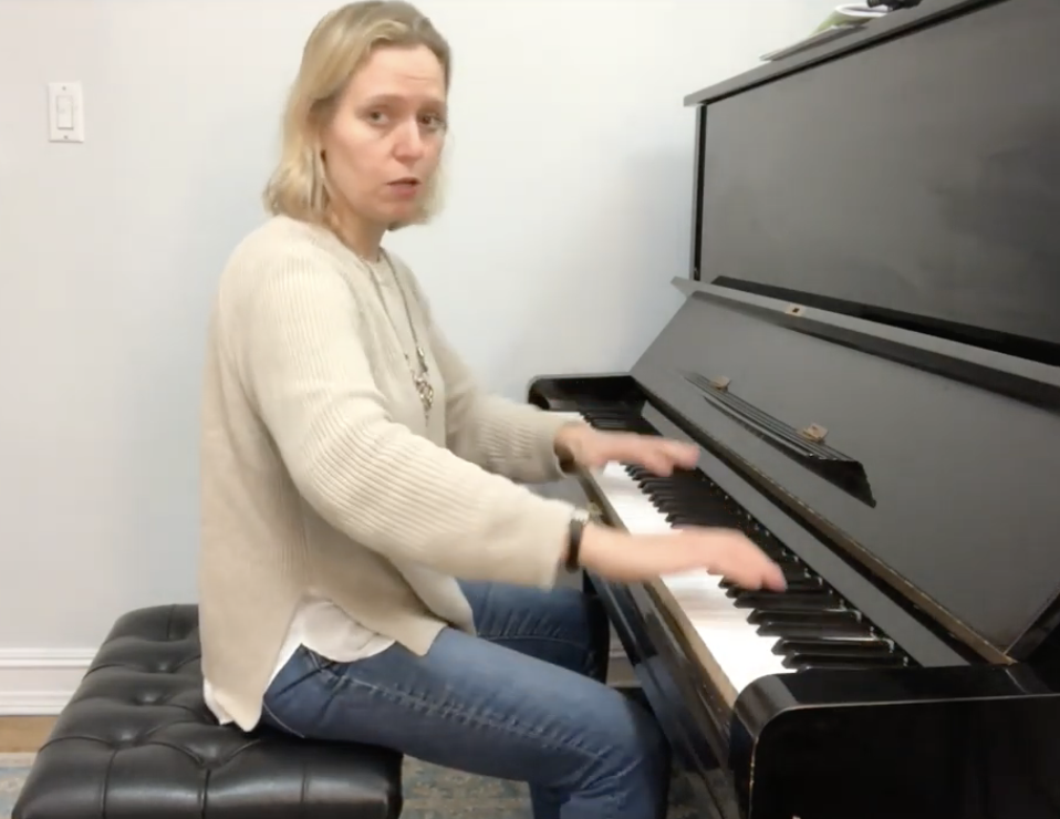 pianist demonstrating good posture at the piano