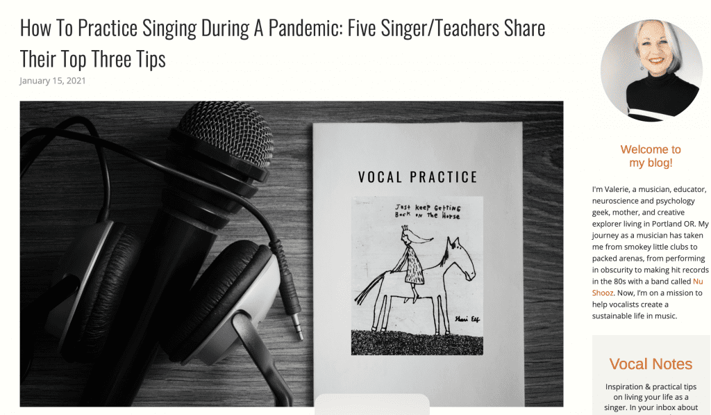 How to Practice Singing During a Pandemic:  5 Singer/Teachers Share Their Top Three Tips