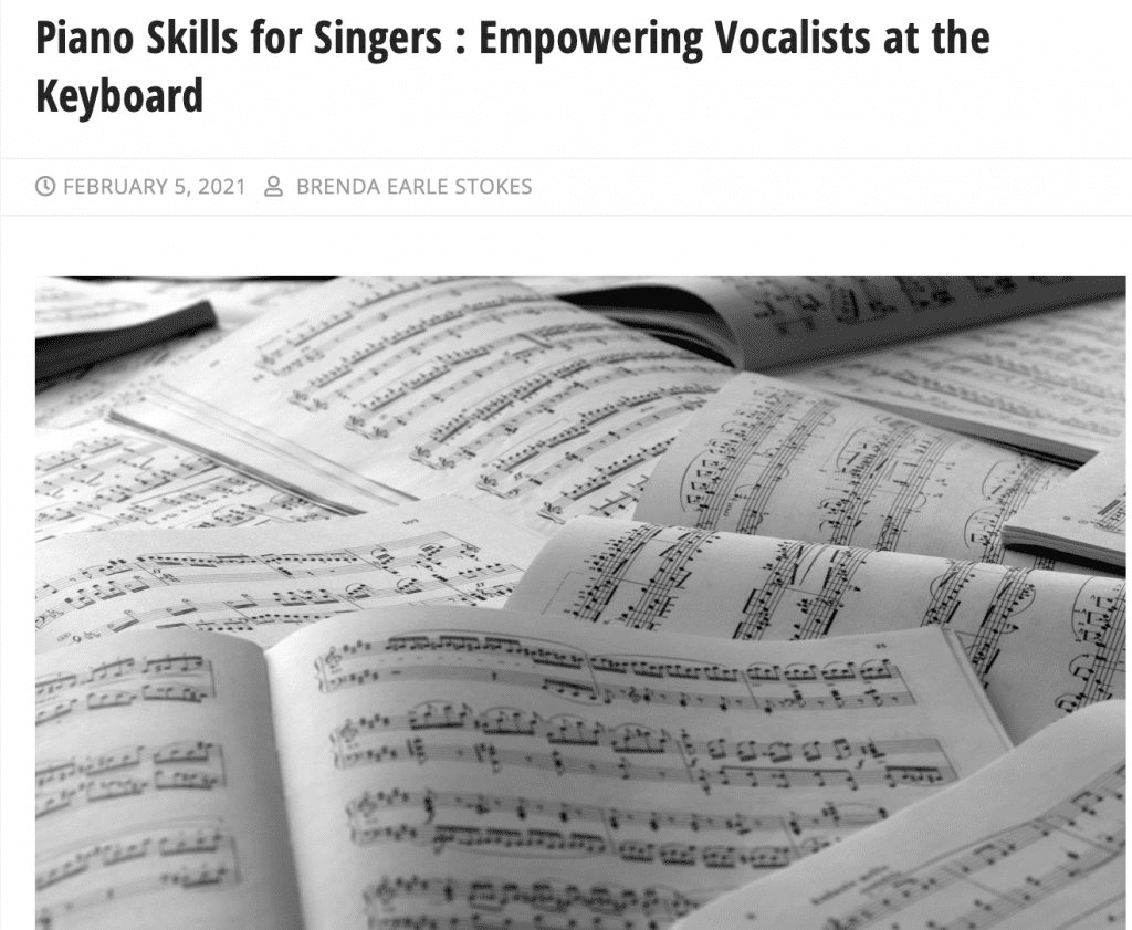 Article published in Classical Singer Magazine's blog!