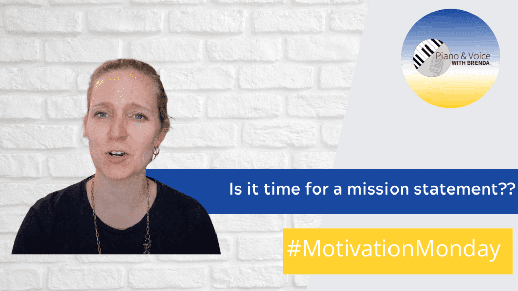 Motivation Monday – Is it time for a mission statement?