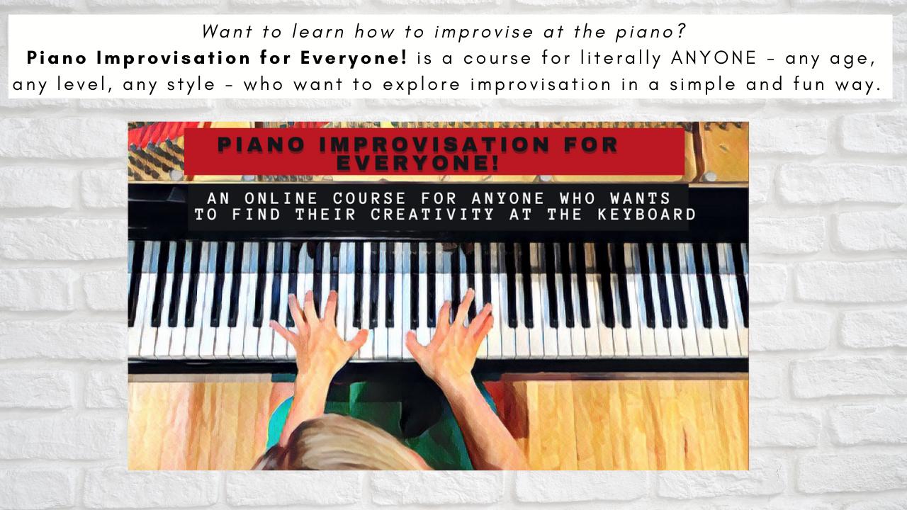 Piano Improvisation Newsletter TN