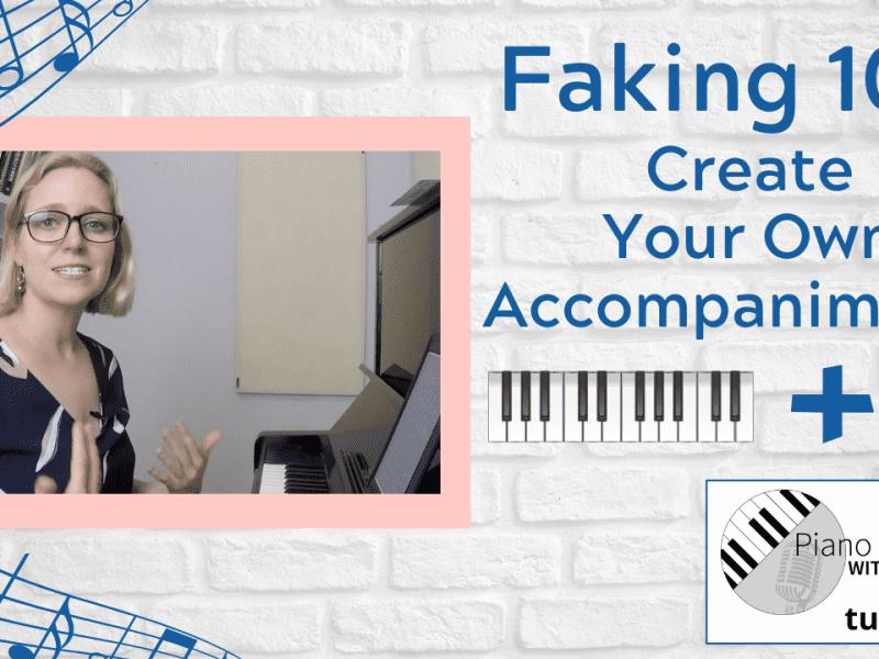 Photo of piano teacher playing a Yamaha piano and demonstrating faking skills
