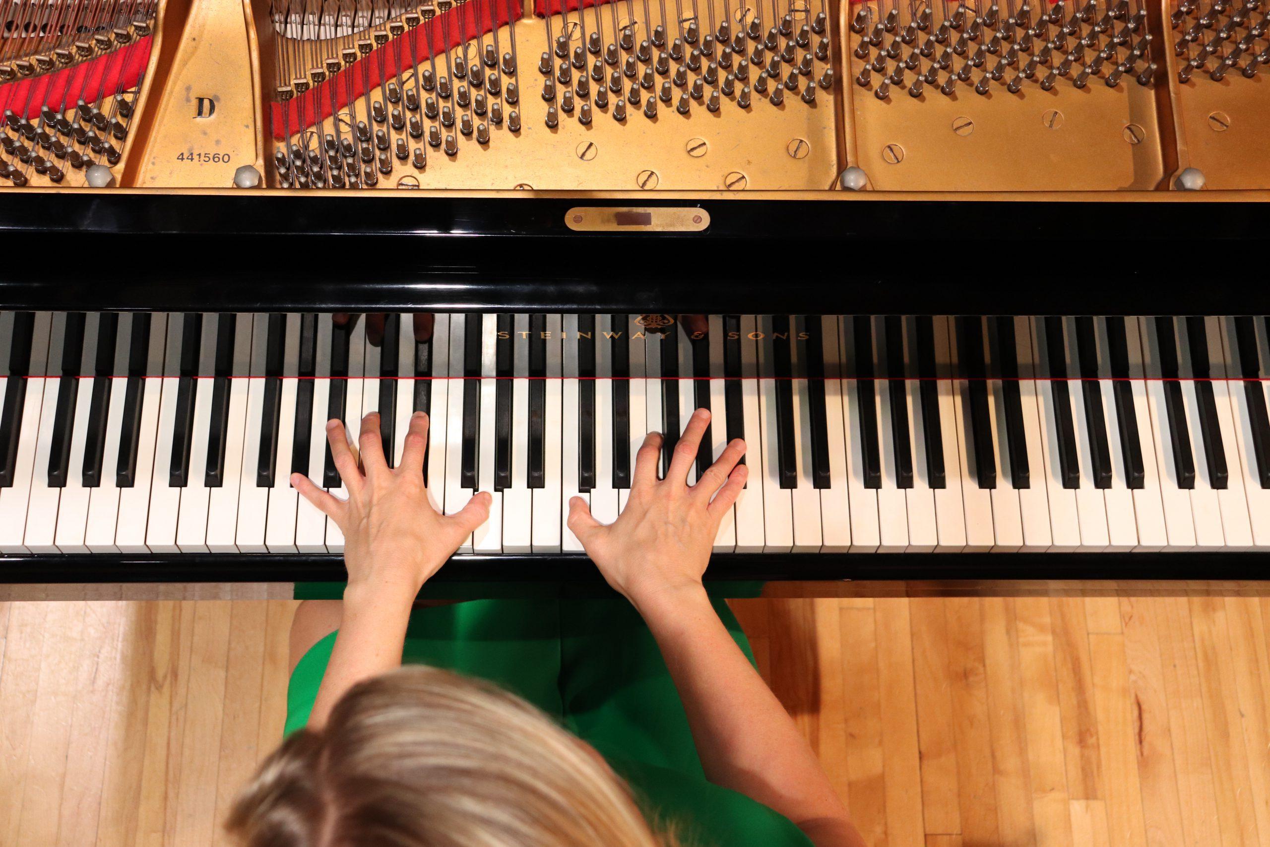Brenda playing the piano