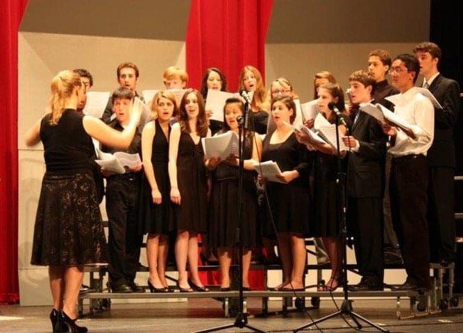 Brenda conducting a youth choir