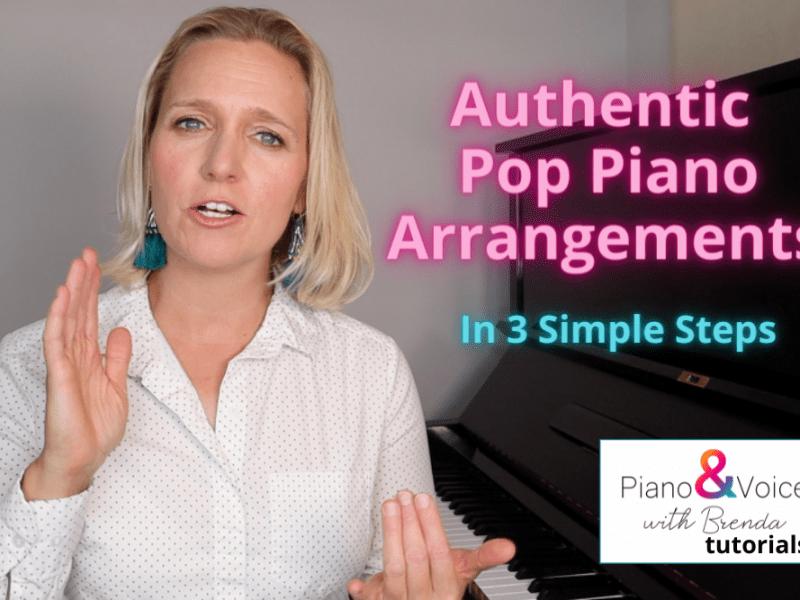 Playing pop piano arrangments.
