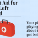 First Aid for the left hand with doctor's bag.