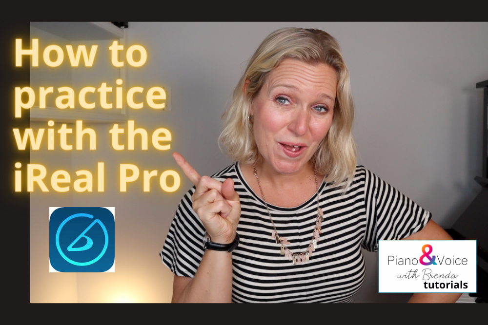 singer and pianist teaching how to use the real pro app